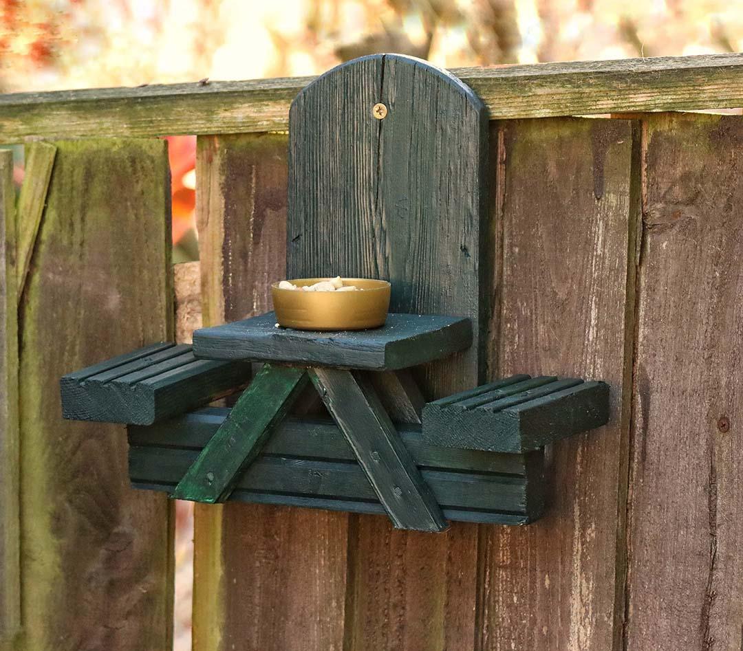 Mesa de picnic de ardilla